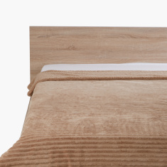 Luxot Textured Twin Flannel Blanket - 150x220 cms