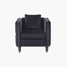 Harmony Button Detail 1-Seater Sofa with Cushion