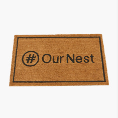 Our Nest Embossed Doormat - 45x75 cms