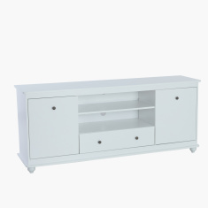 Harvest 2-Door 1-Drawer Low TV Unit for TVs up to 75 inches