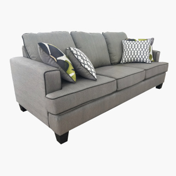 Burcham 3-Seater Sofa with Printed Scatter Cushions