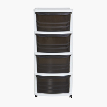 Coco 4-Drawer Storage Cabinet with Wheels