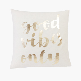 Good Vibes Printed Filled Cushion - 45x45 cms