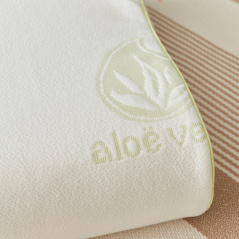 Aloevera Memory Foam Contour Shaped Pillow - 40x60 cms