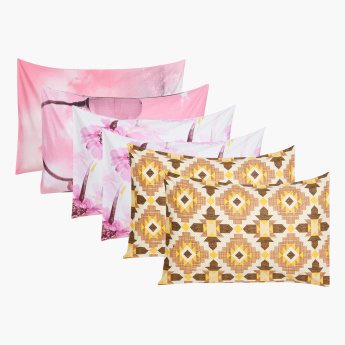 Axis Printed Pillow Cover - Set of 6