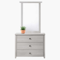 Montoya 3-Drawer Dresser with Mirror