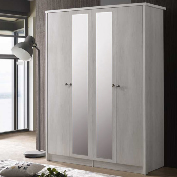 Montoya 4-Door Wardrobe with Mirror