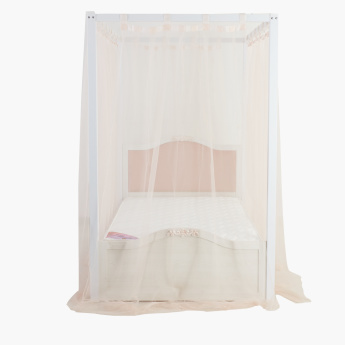 Ariena Twin Poster Bed with Curtains - 120x200 cms