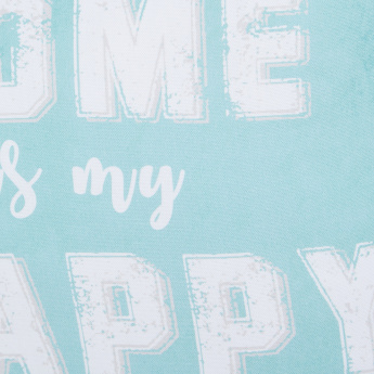 Happy Place Digital Printed Filled Cushion - 45x45 cms