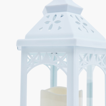 Ether Plastic Lantern with Plastic LED Candle Light