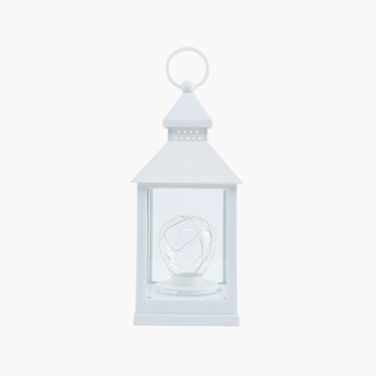 Ebony Plastic Lantern with Bulb