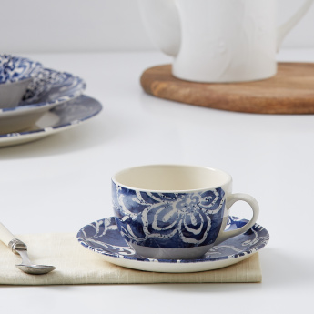 Zayra Blue Cup and Saucer Set