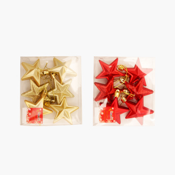 Chamdol Xmas Star Shaped Hanging Ornament - Set of 12