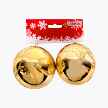 Chamdol Xmas Printed Bauble - Set of 2