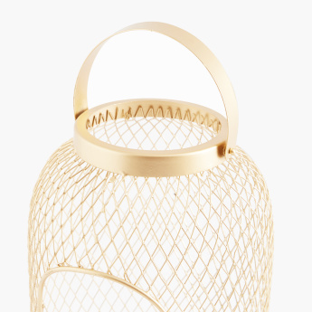 Mesh Lantern with Curved Handle