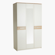 Moonlight 3-Door Wardrobe with Mirror