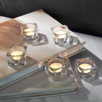 Tria 5-Piece Square-Shaped Tealight Holders