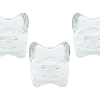 Tria Wave Glass Tealight Holder - Set of 4