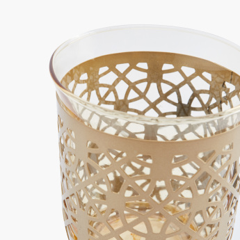 Amara Metal Encased Glass Candle Holder