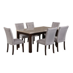 Arlington 6-Seater Dining Table Set with Marble Top