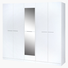 Fiona 5-Door Wardrobe with Mirror