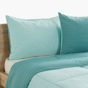 Bristol Reversible 3-Piece Twin Comforter Set - 160x220 cms