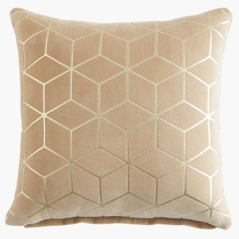 Cube Foil Printed Cushion Cover - 40x40 cms