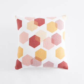 Hexagon Printed Cushion Cover- 40x40 cms