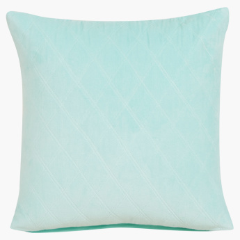 Lux Quilted Velvet Cotton Cushion Cover - 40x40 cms
