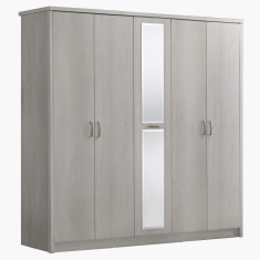 Belinda 5-Door Wardrobe with Mirror