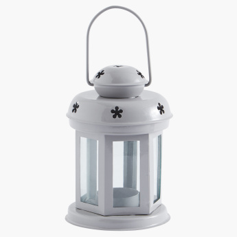 Mini Lantern with Floral Cutouts