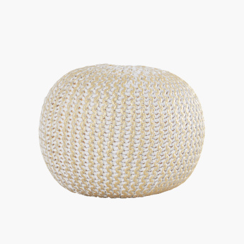 Grace Handknitted Foil Print Pouf