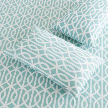 Atlanta Lauren Printed 3-Piece King Flat Sheet Set - 260x240 cms