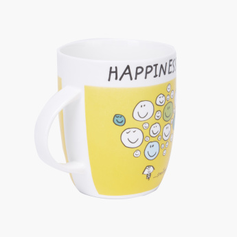 Happiness Printed Mug - 355 ml