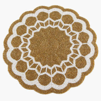 Radiant Round Beaded Placemat