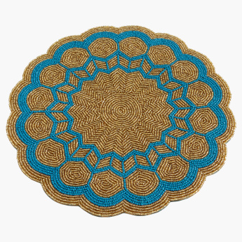 Radiant Beaded Round Placemat