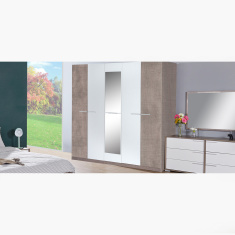 Cathy 5-Door Wardrobe with Mirror