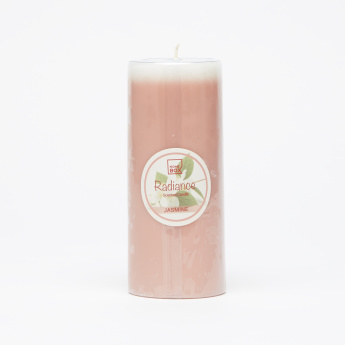 Radiance Jasmine Scented Pillar Candle