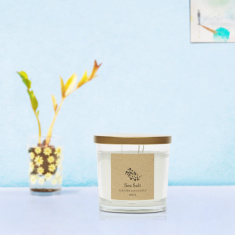 Energize Aroma Therapy Sea Salt Jar Candle with Lid