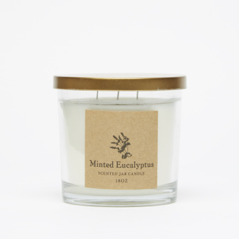 Energize Aroma Therapy Minted Eucalyptus Jar Candle with Lid