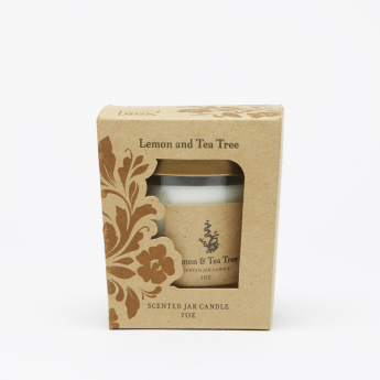 Energize Aroma Therepy Lemon and Tea Tree Jar Candle with Lid