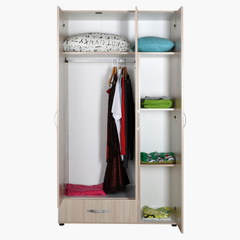 Dynamic 3-Door Wardrobe with Drawer