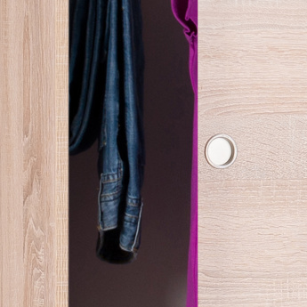 Compact 2-Sliding Door Wardrobe