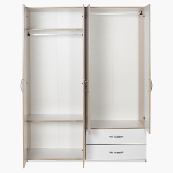 Bodrum 4-Door Wardrobe with 2-Drawers
