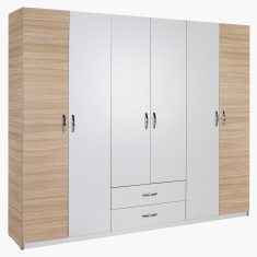 Bodrum 6-Door Wardrobe with 2-Drawers