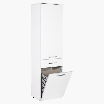 3cb13b9228f95 Diamond 1-Door and 1-Drawer Laundry Cabinet with Laundry Basket ...