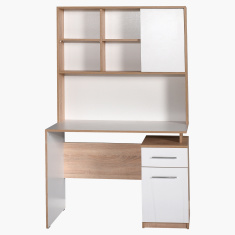 Plus Study Desk with Shelf Unit and 2-Drawers Cabinet