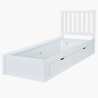 Patara Single Bed with 4-Drawers - 90x200 cms