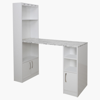 Bianca High Gloss 2-Door Bar Unit