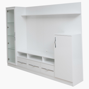 Bianca High Gloss 2-Door Wall Unit for TVs up to 60 inches